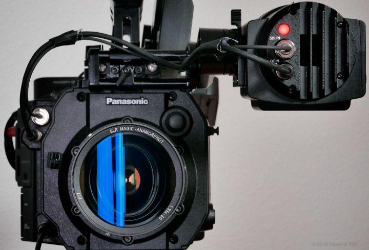 A 1.33x anamorphic adapter on the VariCam LT