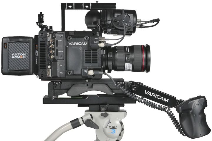 VariCam LT, left side, all the way back on the shoulder mount