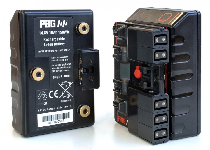 PAG's new power distribution accessory for use with its Gold Mount PAGlink batteries