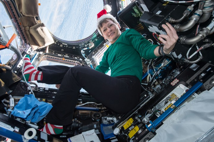 NASA astronaut and Expedition 51 commander Peggy Whitson, onboard the space station since November, will speak to viewers in the highest resolution video ever broadcast live from space. In January she broke the female astronaut spacewalking record after completing the 8th EVA of her career.