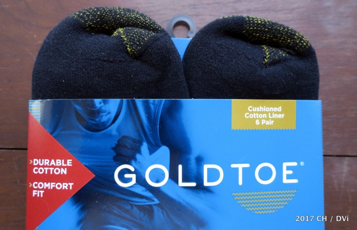Brand new Gold Toe socks are the other component in my NAB comfort quotient.