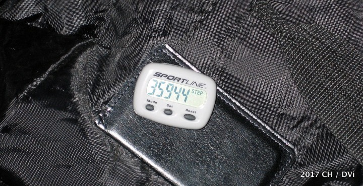 Back in 2005, before there was an app for that, I wore a pedometer during NAB week (Sun. to Thu.) and walked appx. 17 miles, or almost 3.5 miles (5.5 kilometers) per day.