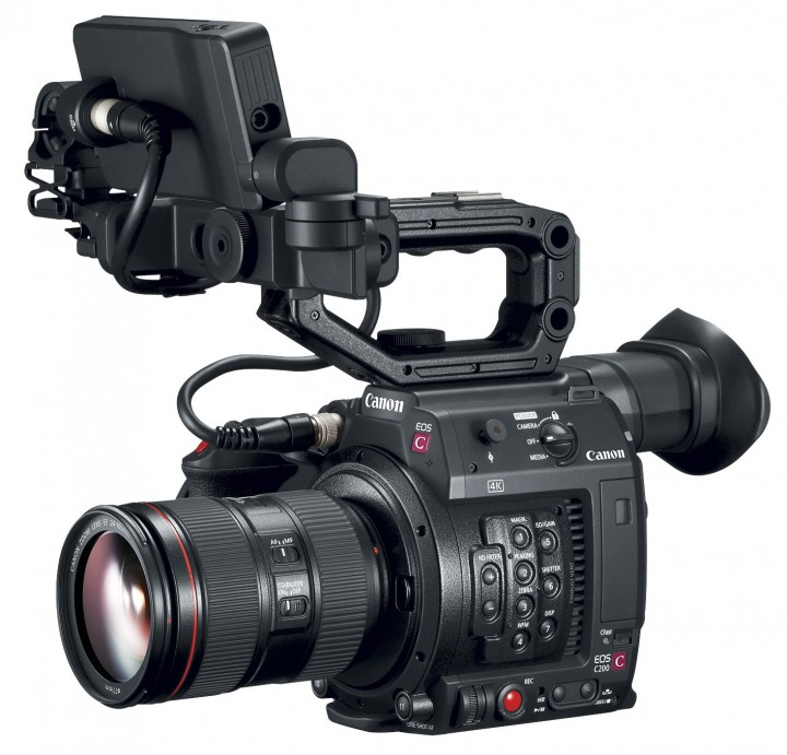 Above: Canon EOS C200 (with rear EVF)