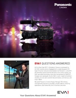 click to download the AU-EVA1 FAQ