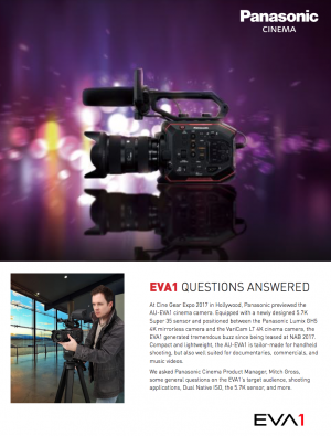 Download the EVA1 Q&A interview with Mitch Gross