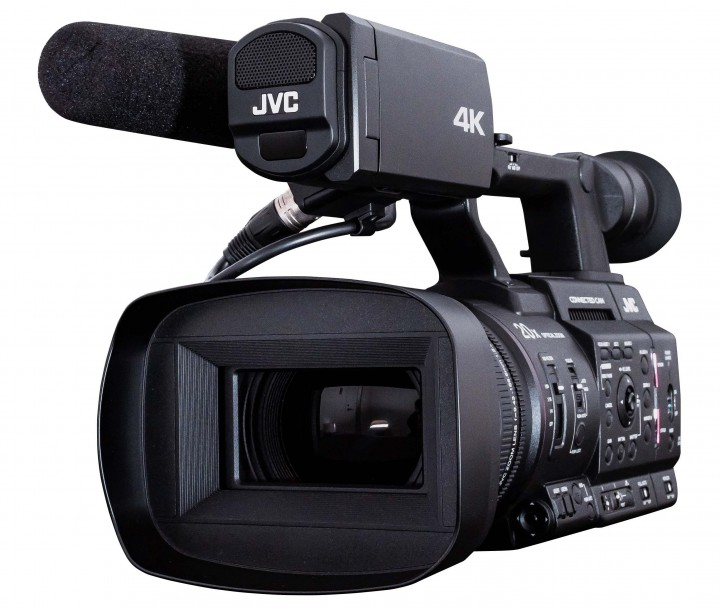 The JVC GY-HM500 (or GY-HM500SPC) CONNECTED CAM Handheld Camcorder.