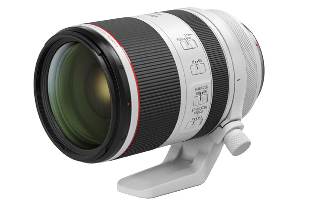 Above: the Canon RF 70-200mm F2.8 L IS USM telephoto zoom lens.