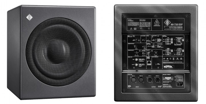 The new KH 750 DSP is a particularly compact subwoofer for broadcast, music and post production studios.