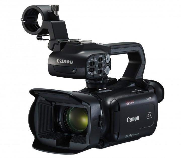 The Canon XA40 4K UHD camcorder