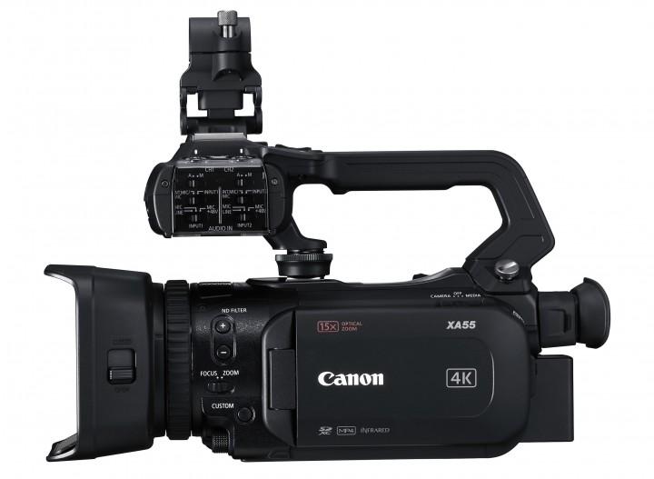 The Canon XA55 4K UHD camcorder