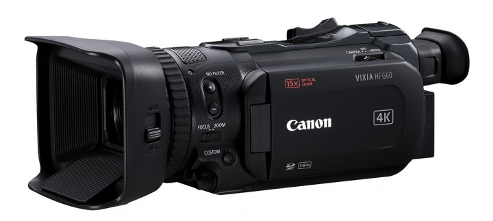 The Canon VIXIA HF G60 4K UHD camcorder